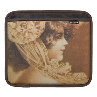 Vintage Victorian Girl Illustration Sleeves For iPads
