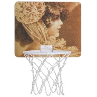 Vintage Victorian Girl Illustration Mini Basketball Hoops
