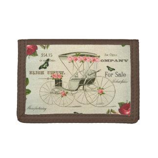 Vintage victorian girly wallet w/ flowers