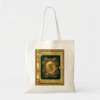 Vintage victorian gold budget tote bag