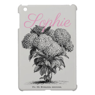Vintage/Victorian Hydrangea Flower Personnalised Cover For The iPad Mini
