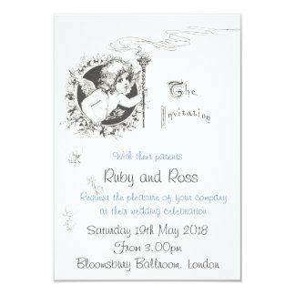 Vintage Victorian Illustration Wedding Invitation