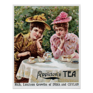 Vintage Victorian India and Ceylon tea ad Poster
