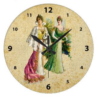 Vintage Victorian Ladies Fashion Clock