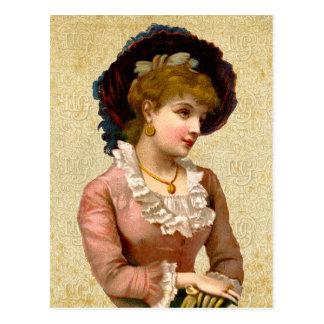 Vintage Victorian Ladies Fashion Postcard