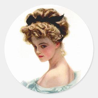 Vintage Victorian Lady Stickers Seals