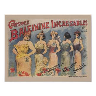 Vintage Victorian Lingerie Wedding Shower 11 Cm X 14 Cm Invitation Card
