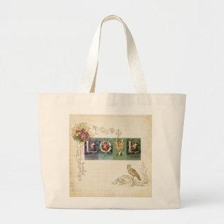 Vintage Victorian Love Canvas Bags