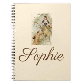 Vintage/Victorian Lovers Personnalised Notebook