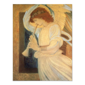 Vintage Victorian Music Angel, Christmas Party Card