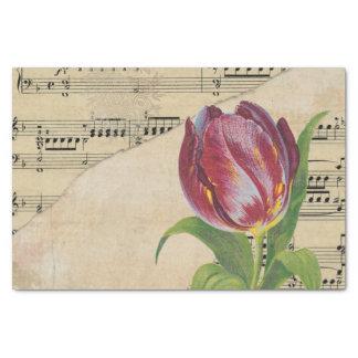 Vintage Victorian Music Romance Tulips TissuePaper Tissue Paper