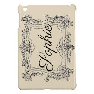 Vintage/Victorian Ornate Frame Personnalised iPad Mini Case