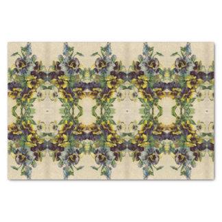 Vintage Victorian Pansies Tissue Paper