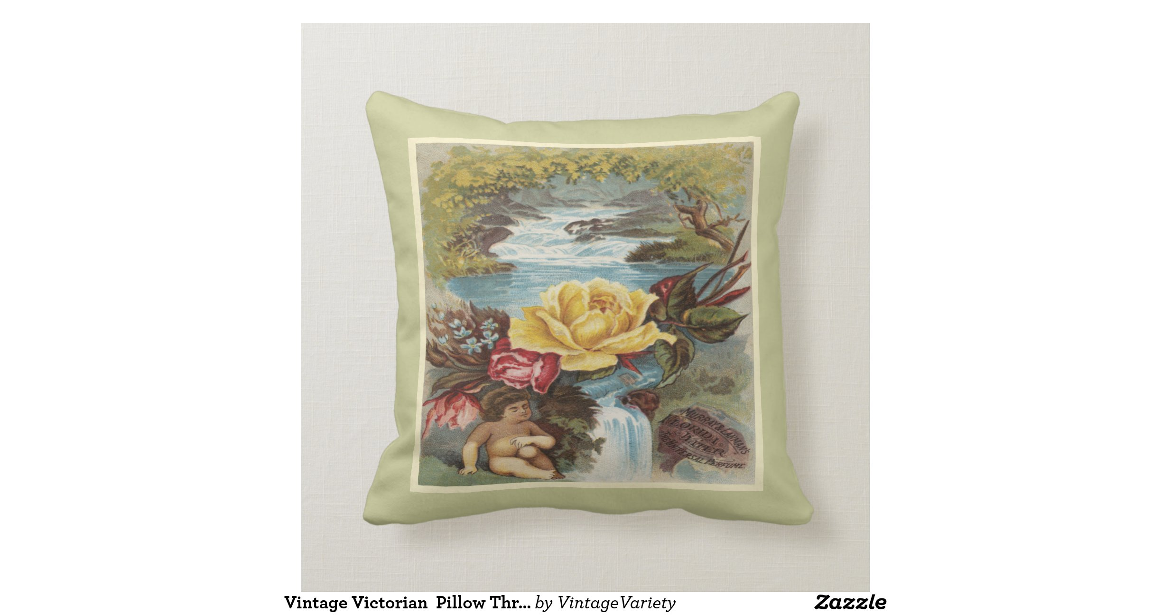 Vintage Victorian Pillows : Vintage Victorian Pillow Throw Zazzle