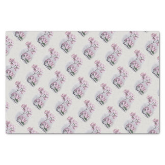 Vintage/Victorian Pink Flowers Tissue Paper