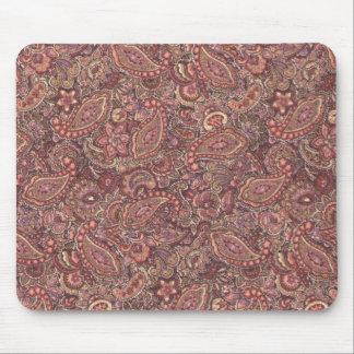 Vintage Victorian Pink Plum Paisley Mousepad
