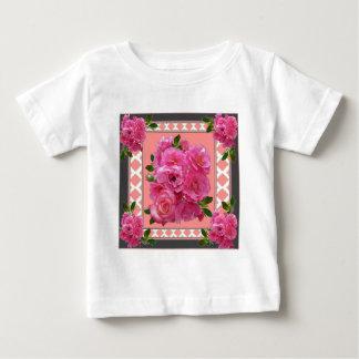 vintage victorian pink rose pattern art baby T-Shirt