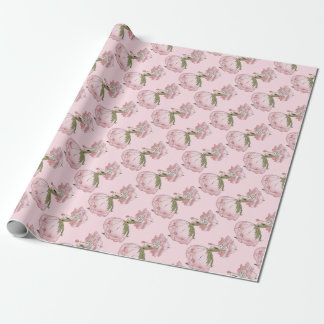 Vintage/Victorian Pretty Pink Flower Fairy Wrapping Paper