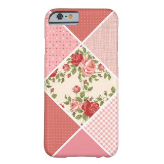 Vintage, Victorian Quilt, Pink, Rose, White Barely There iPhone 6 Case