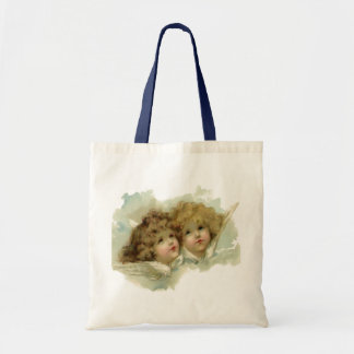 Vintage Victorian Religious Angels in Clouds Budget Tote Bag