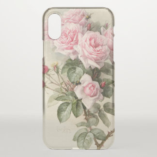 Vintage Victorian Romantic Roses iPhone X Case