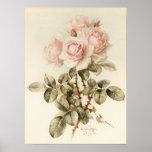 Vintage Victorian Romantic Roses Print