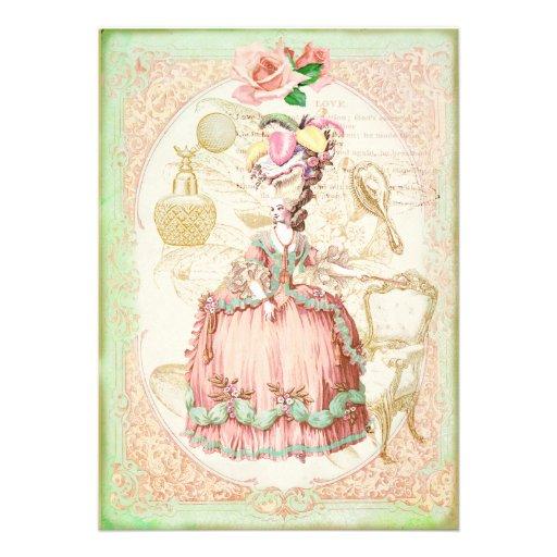 Vintage Victorian Rose Birthday Party Invitation