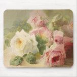 Vintage Victorian Rose Watercolor Mouse Pad