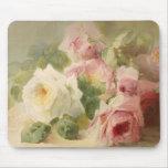 Vintage Victorian Rose Watercolor Mousepads