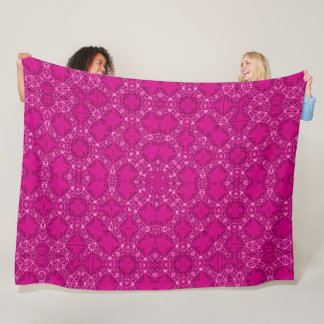 Vintage Victorian Royal Pink Satin Foulard Fleece Blanket