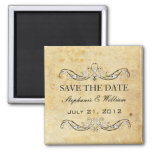 Vintage Victorian Save The Date Square Magnet