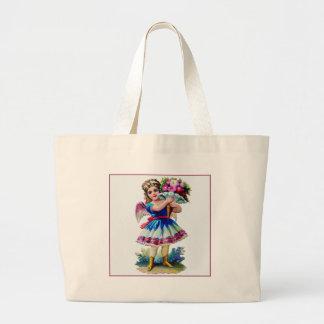 Vintage Victorian Scrapbook Girl Canvas Bag
