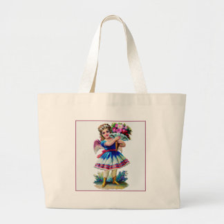 Vintage Victorian Scrapbook Girl Jumbo Tote Bag