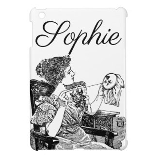 Vintage/Victorian Seamstress Engraving iPad Mini Covers