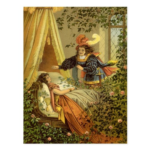 Vintage Victorian Sleeping Beauty Fairy Tale Post Cards