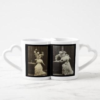 Vintage Victorian Spiritualism Nesting Mugs