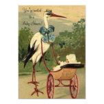 Vintage Victorian Stork Baby Shower