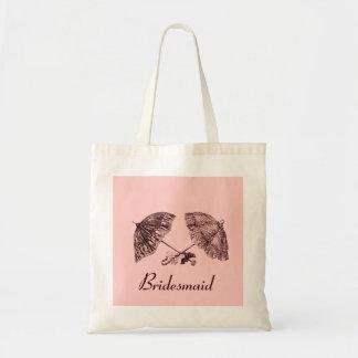 Vintage Victorian umbrellas bridesmaid bag