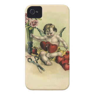 Vintage Victorian Valentine's Day Angel Seamstress iPhone 4 Case-Mate Cases