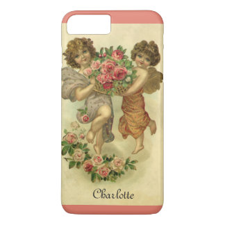 Vintage Victorian Valentine's Day, Angels Roses iPhone 8 Plus/7 Plus Case