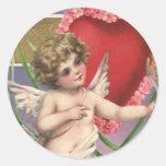 Vintage Victorian Valentine's Day; Be My Valentine Stickers