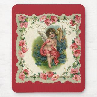 Vintage Victorian Valentine's Day, Cherub on Phone Mouse Pad