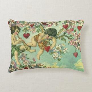 Vintage Victorian Valentines Day Cupids Heart Tree Decorative Cushion