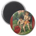 Vintage Victorian Valentine's Day, Love's Offering 6 Cm Round Magnet