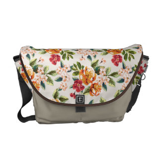 Vintage Victorian Watercolor Floral Pattern Courier Bags