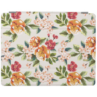 Vintage Victorian Watercolor Floral Pattern iPad Cover