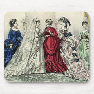 Vintage Victorian Wedding Bride Bridesmaid Bridal Mouse Pad