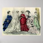 Vintage Victorian Wedding Bride Bridesmaid Bridal Poster