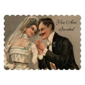 Vintage victorian wedding card