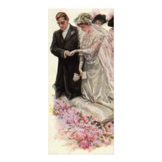 Vintage Victorian Wedding Ceremony Bride Groom Custom Rack Card